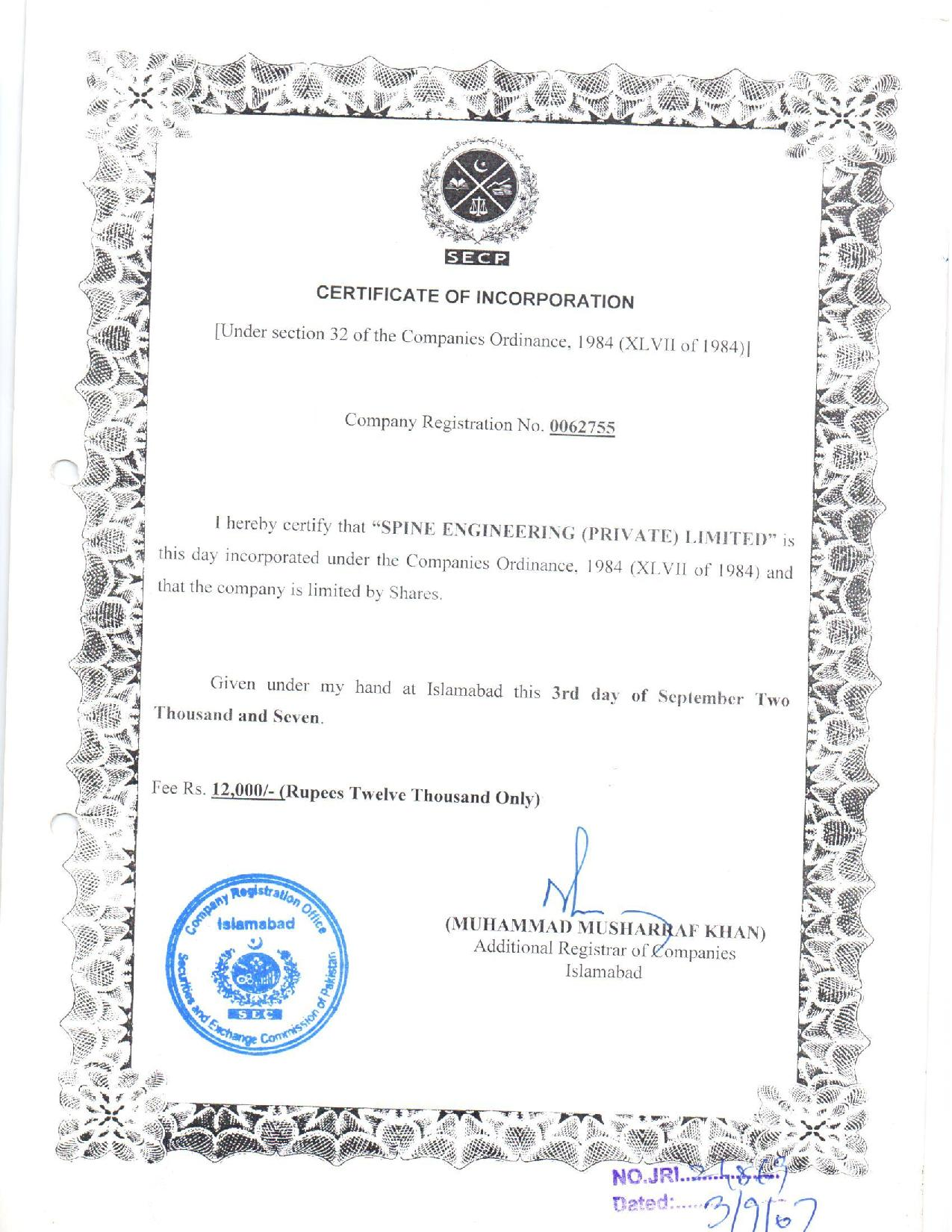 Certificate-of-Incorporation-Spine-Engineering-Private-Limited-page-001